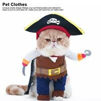 Cute Pet Dog Cat Halloween Clothes Pirate Funny Costume Dress Up Cloak Cap Hat