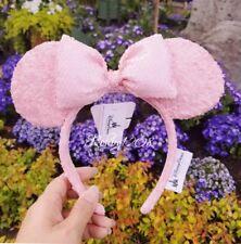 BNWT 2018 Disney Parks Millennial Pink Sequin Minnie Ears Millenial Headband
