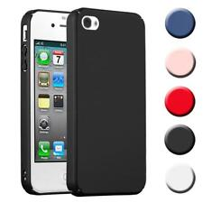 Schutz Hülle für Apple iPhone 4 / 4S Handy Hard Cover Case Matt Metallic Bumper