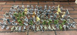 Plastic Toy Soldiers Military Civil War , BMC, CTS, ARMIES, CONTE - 83 Pieces