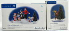 """Dept 56 Snow Village Series """"On The Way To Ballet Class & Christmas Trimming"""" #4"""