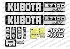 KUBOTA B7100 HST COMPATTO Trattore Adesivo Decalcomania Set