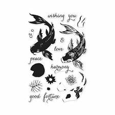 """Hero Arts Color Layering """"KOI"""" Poly Clear Photopolymer Stamps"""