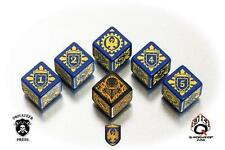 Q-Workshop Privateer Press WARMACHINE Faction 6D Dice Set Cygnar QWS SPWA45