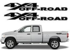 PAIR Black 4x4 Off Road Bed Side Decals For 2002-2008 Dodge Ram Trucks New USA