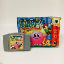 Kirby 64: The Crystal Shards (Nintendo 64, 2000) Game Cartridge w/ Box No Manual
