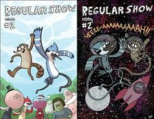 REGULAR SHOW #2 A & B both 1st print kaBOOM comic CARTOON NETWORK TV RIGBY 2013