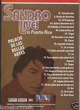 DVD SANDRO EN VIVO EN PUERTO RICO TRIGAL PENAS COMO LO HICE YO TENGO SE TE NOTA