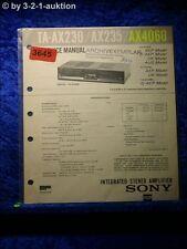 Sony Service Manual TA AX230 /AX235 /AX4060 Amplifier (#3645)