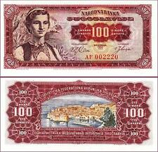 YUGOSLAVIA 100 DINARA 1963 UNCIRCULATED P 73