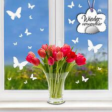 Fensterbild Schmetterlinge WIEDERVERWENDBAR weiß Frühling Ostern Fenster 12375