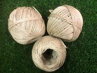 Cadena De Fibra Natural Sisal X 3 bobinas de fibra natural en el 100/% Biodegradable