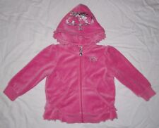 Infant Baby Girls JUICY COUTURE Pink Velour Hoodie Sweatshirt -size 12-18 months