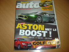 Sport Auto N°515 Golf GTi DSG.BMW 545i/Chrysler 300 C
