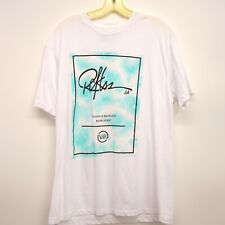 Young & Reckless Size Large Mens Watercolor Blue Logo Tee T-Shirt Pacsun New