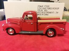 Motor Max 1940 Ford Pickup Truck Red # 68062 1/24 In Box