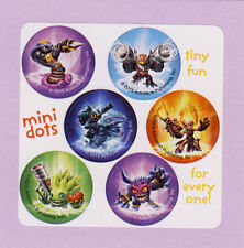 60 Skylanders Mini Dot Stickers - Party Favors - Rewards