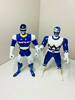 Power Rangers In Space & Lost Galaxy Blue Ranger Action Figures 98 99 Bandai Toy