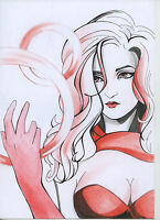 A00167 Scarlet Witch original art by Moisenko *NOT A PRINT* marvel dc comics