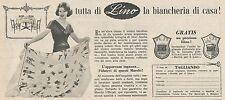 W1754 Tutta di Lino la biancheria di casa - Pubblicità del 1958 - Vintage advert