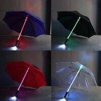 Color Changing LED Umbrella Light Flash Night Protection Kids Gift 4 Colors SE
