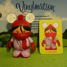 """Disney Vinylmation 3"""" Park Set 2 Cutesters Too Red Scarf Kid Girl with Card"""