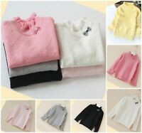Girls Top Sweater Knitted Warm Autumn Winter Long Sleeve School Age 2-10 years