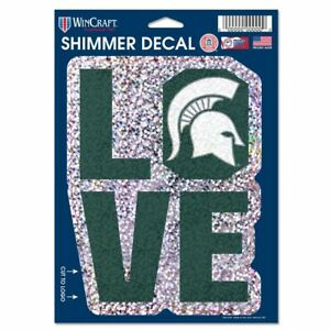 MICHIGAN STATE DECAL SHIMMER WITH HOLOGRAPHIC BACKGROUND 5 X 7 NEW