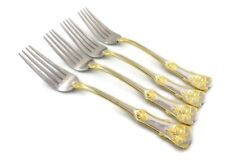 Royal Albert OLD COUNTRY ROSES Lot of 4 SALAD FORKS Stainless Flatware 18/10