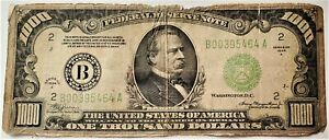$1000 dollar bill, Federal Reserve Note 1934 series circulated