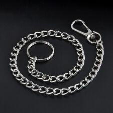 """Mens Heavy 15"""" Extra Metal Key Wallet Belt Ring Clip Jean Trucker Waist Chain"""