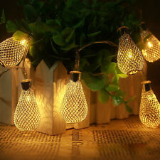 20-LED 86inch Battery Operated Diwali Decor Moroccan Waterdrop String Lamp Light