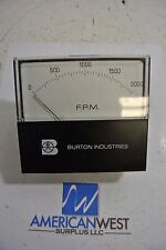 Used General Electric Burton Flow Meter 0-2000 FPM