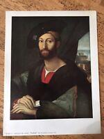 Raphael - Guiliano De' Medici - 12.5 X 9.5 Vintage Print