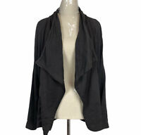 Decjuba Womens Brown Long Sleeve Zipper Jacket Size S