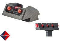 1911 Mil Spec Fiber Optic Sight Set, Red Rear and Red Front