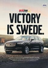 2016 Volvo XC90 - Victory is Swede- Original Advertisement Print Art Car Ad J888