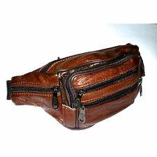 Gürteltasche Bauchtasche Hüfttasche Reise Leder Handytasche Tasche Vintage Braun