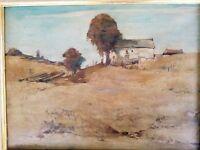 "Signed Oil Painting on canvas Willem Van Den Berg Dutch Landscape 23X19"""