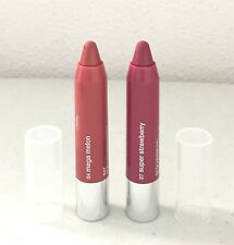 Lot 2 Clinique Chubby Stick Moisturizing Lip Colour Balm Mega Melon / Strawberry