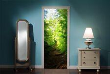 Puerta Mural bosque encantado ver pared calcomanía de pegatinas Wallpaper 21