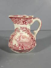 "Mason's Ironstone Red Vista 4 1/2"" tall Hydra Cramer Cream Pitcher Jug"