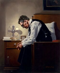 Jack Vettriano greeting card - The Weight