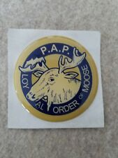 "LOYAL ORDER OF MOOSE FULL COLOR 2""  INCH EPOXY DOME CAR DECAL STICKER EMBLEM"
