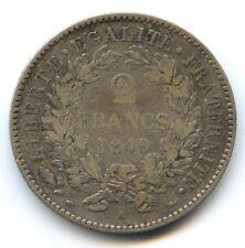 II République (1848-1852) 2 Francs Cérès 1849 A Paris