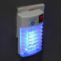 US Plug LED Socket Electric Mosquito Fly Insect Trap Night Lamp Killer Zapper