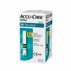 ACCU-CHEK ACTIVE | 50 TEST STRIPS | BLOOD GLUCOSE | EXP:JULY 22 | BRAND NEW | UK