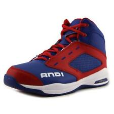 Blue Leather Athletic Shoes for Boys