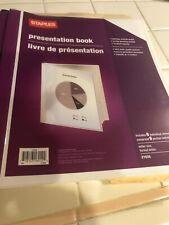 2 Staples presentation book One Blue & One White