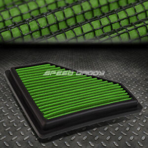FOR 08-11 FORD FOCUS 2.0L GREEN REUSABLE/WASHABLE DROP IN AIR FILTER PANEL